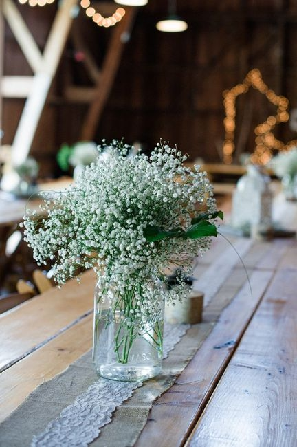 Real flower centrepieces budget 2