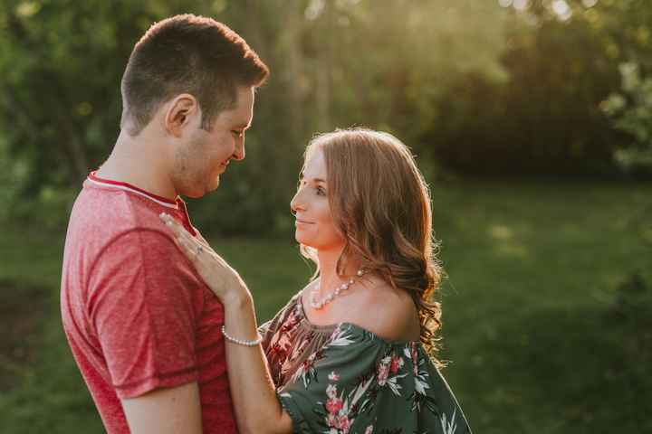 White dress for engagement photos? - 2