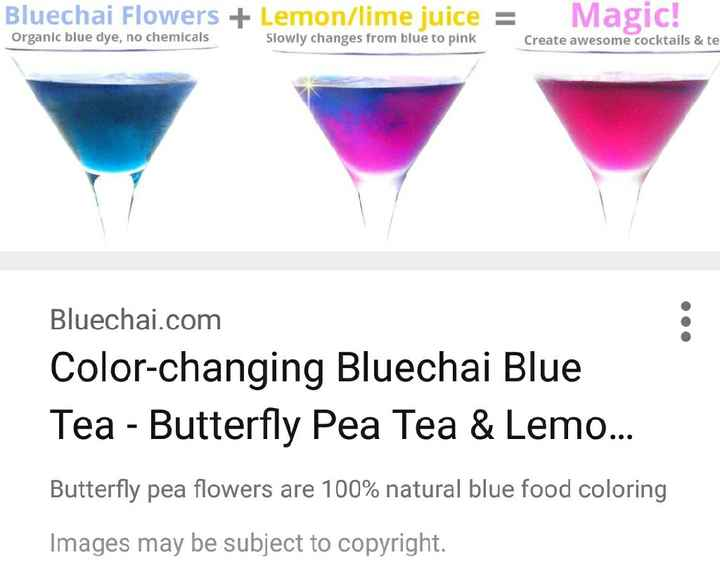Colour changing drinks. - 2