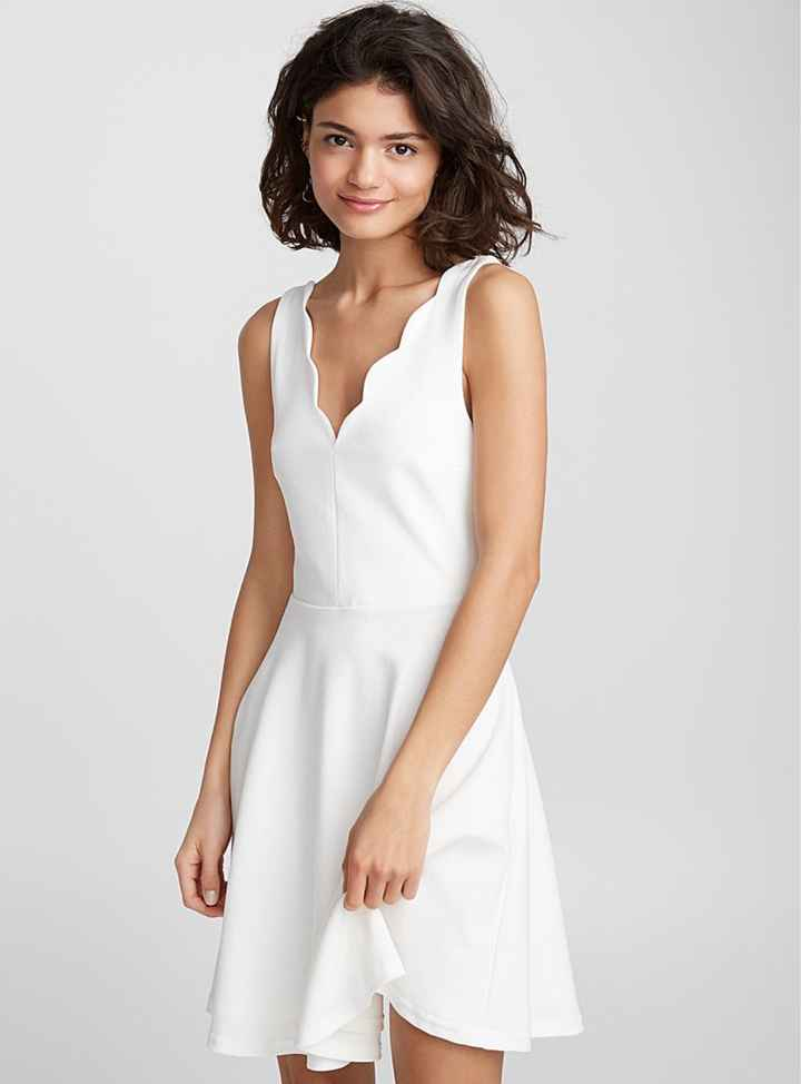 White dress for engagement photos? - 1