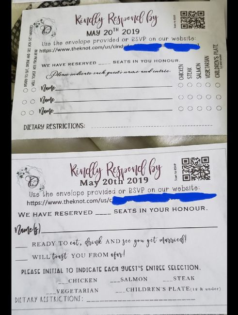 rsvp cards...which option? - 1