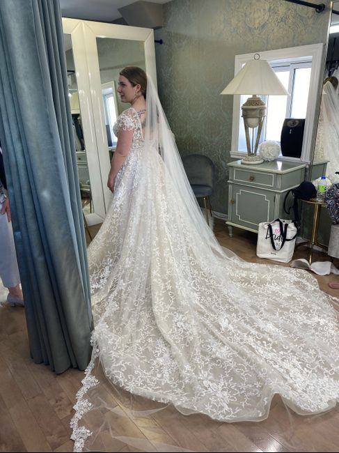 Wedding dress shopping for the first time 1