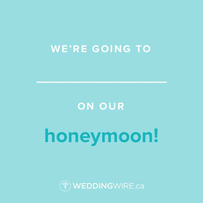 Fill In The Blank - Honeymoon