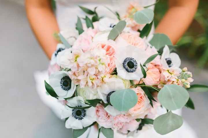 Spring Bouquet - White and Blush with Anemones