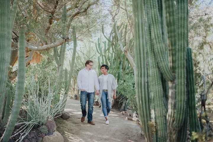 Palm Springs Cactus Engagement Shoot