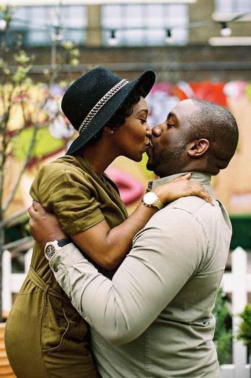 Fun Engagement Kissing Photo