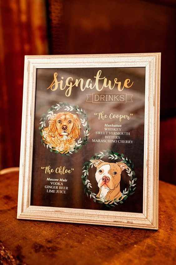 Personalized Dog Signature Drink Sign
