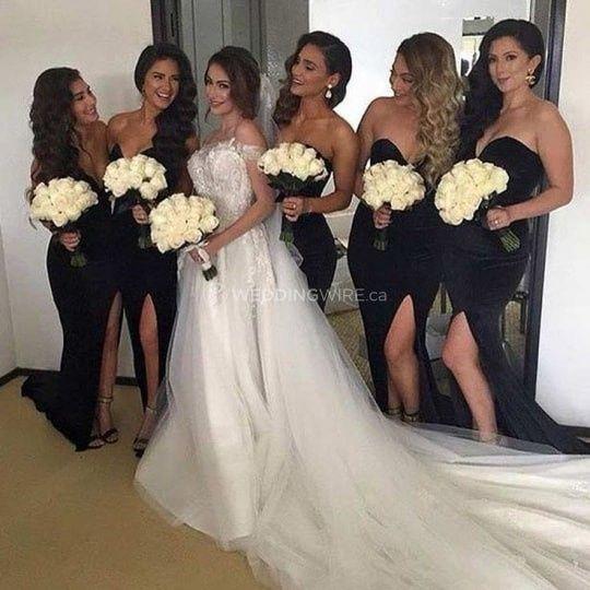 e4f2833b2 Black Bridesmaids Dresses? Taboo or too cute? - Wedding fashion ...