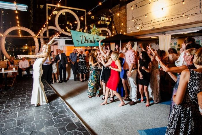 The Garter & Bouquet Toss: Into It or Over It 1