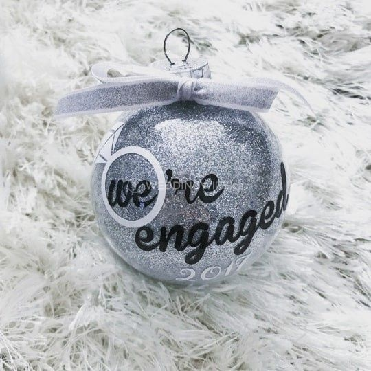 Wedding ornaments!  Who's feeling married and bright? 🎄 1