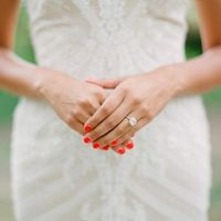Bright Red Wedding Nails