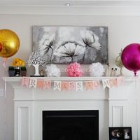Bridal Shower Decor: Balloons and From Miss to Mrs Banner