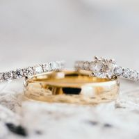 Zoomed In Details - Wedding Rings