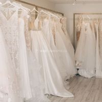 Wedding Dress Store - Dresses on Racks