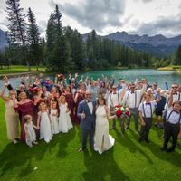 Outdoor Wedding Group Picture