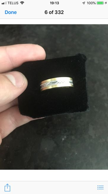 Show off your partner's wedding band! 4