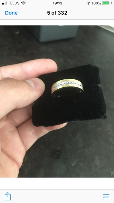 Show off your partner's wedding band! 5