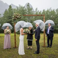It poured rain, but we're married! - 2