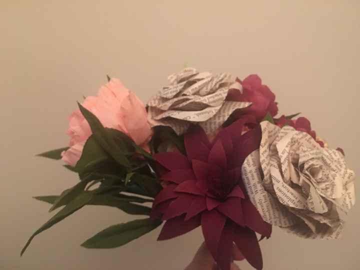 Paper flowers bouquet - 1