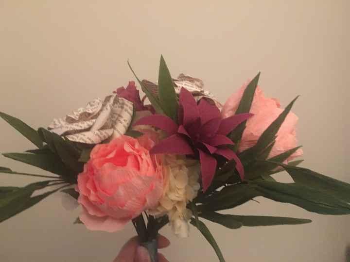 Paper flowers bouquet - 2
