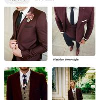 Bridesmaids dresses to go with burgundy suits - 1