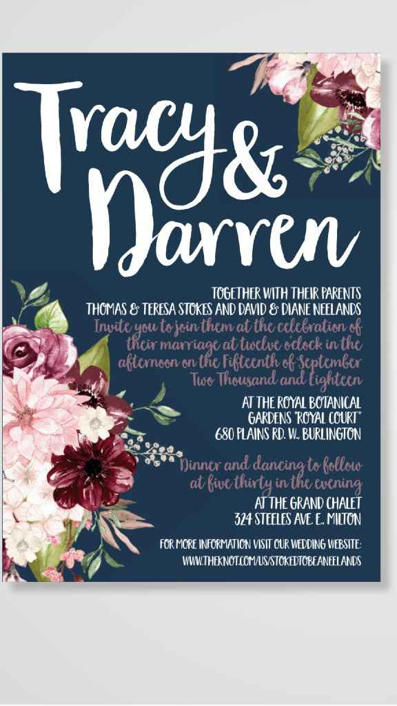 Invitations: Floral or Non-Floral? - 1