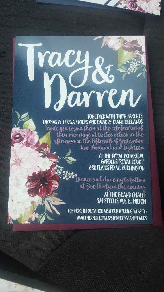 got our Invitations! - 1