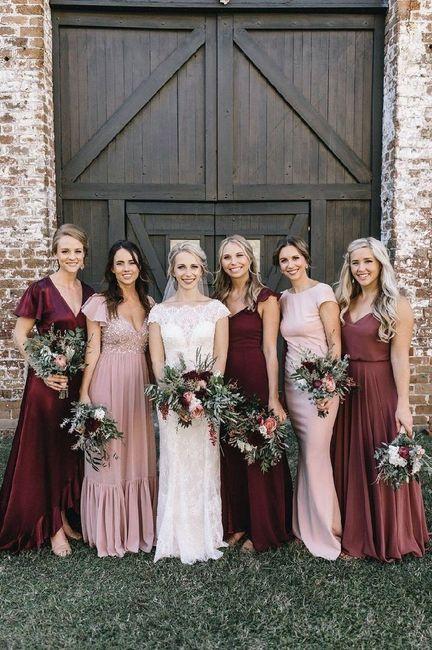 Mismatched Bridesmaid Dresses 8