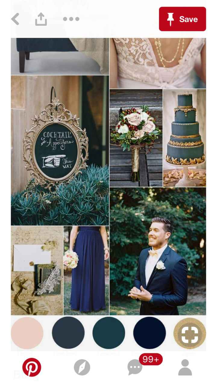Emerald green and royal blue palette - 1