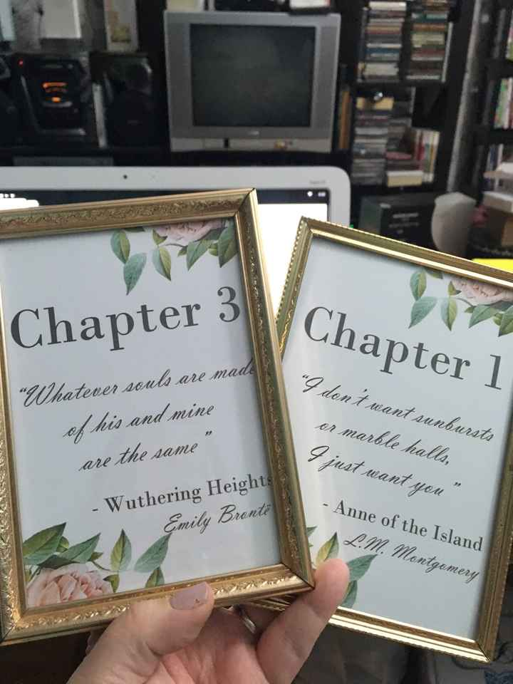 Book quote table numbers & seating chart - 1