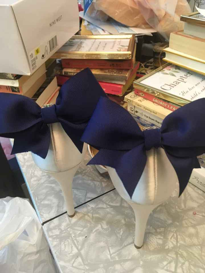 Diy: My Something blue bow clips - 1