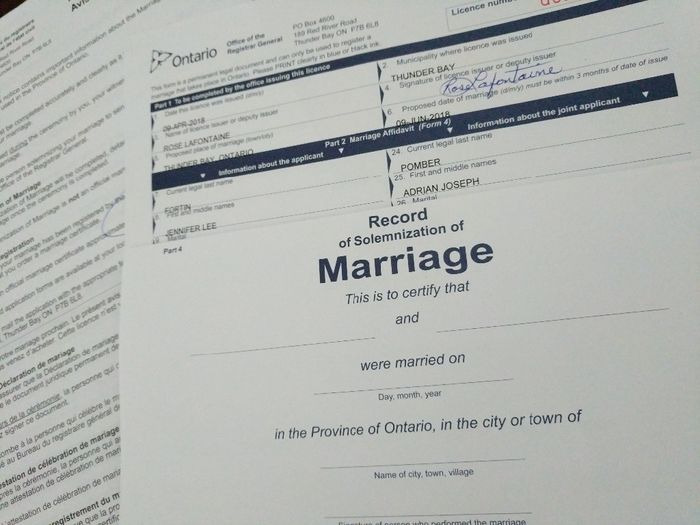 how to obtain a marriage licence in ontario