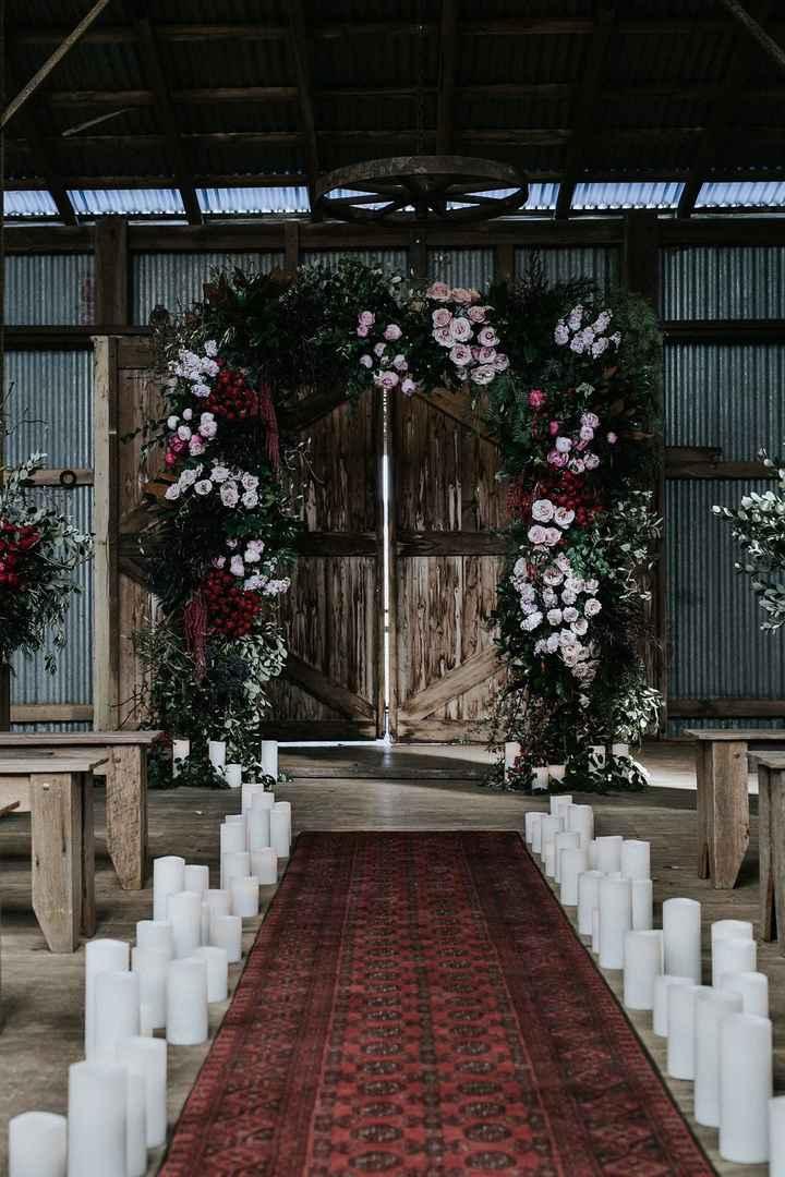 moody wedding arch, burgundy, green, blush and black wedding arch