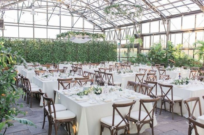 rustic elegant venue, greenery and ivy, wooden chairs