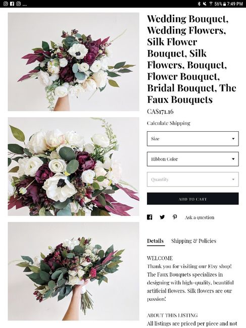 Silk Flower Bouquets Afloral Reviews For Canada Diy Forum