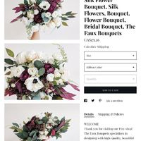 Silk Flower Bouquets! -afloral reviews for Canada - 1