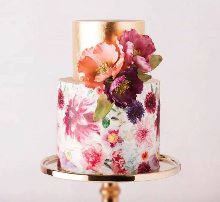 Hand painted wedding cakes? 1
