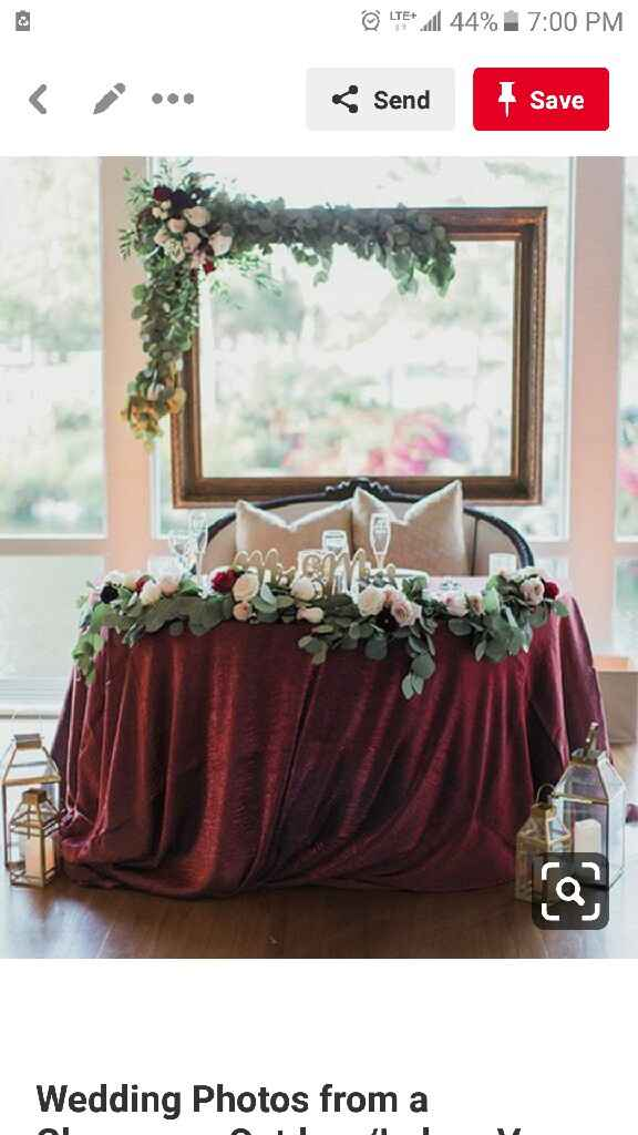 Sweetheart table decoration - 1