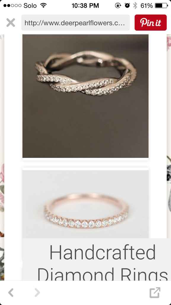 Mismatched metals - wedding sets - 3