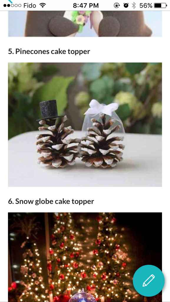 Modern Cake toppers for your wedding - 1