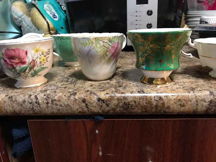 Tea cups at a wedding? - 2