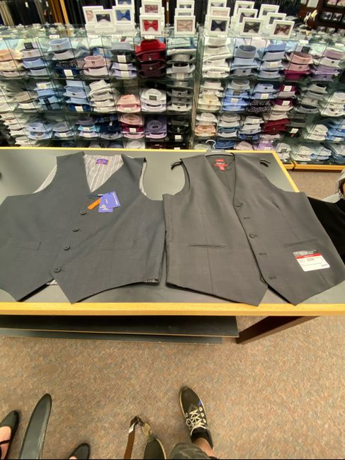 Has anyone done a grey vest with black pants 5