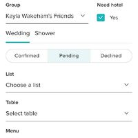 Trouble with wedding list on app - 1