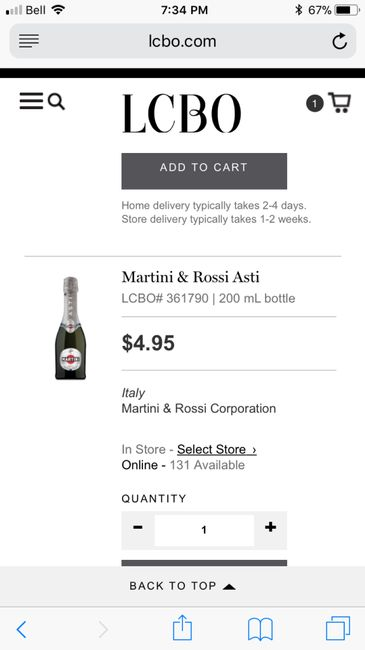b9a787e084b56 Wedding Favours  Mini Wine or Champagne Bottles - Ontario - Forum ...