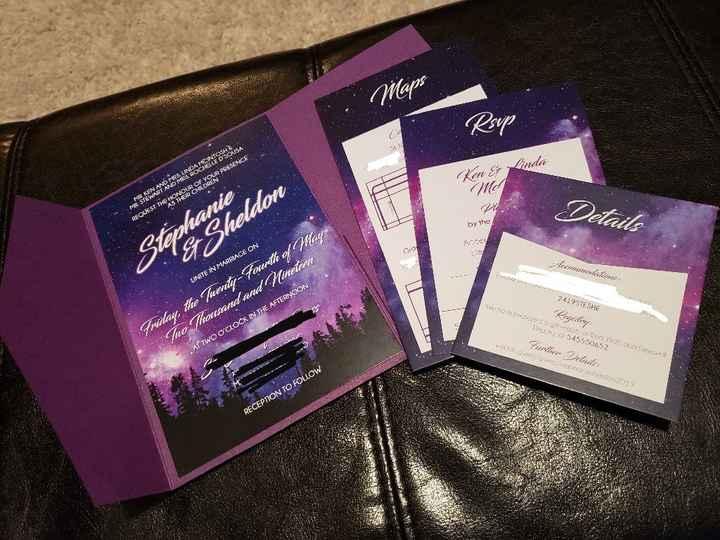 My Wedding Invites are Done!!! - 2