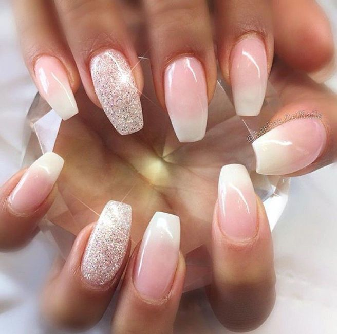 Wedding day nails - 2