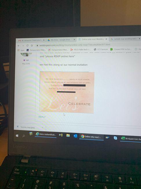 Paper vs RSVP online 2