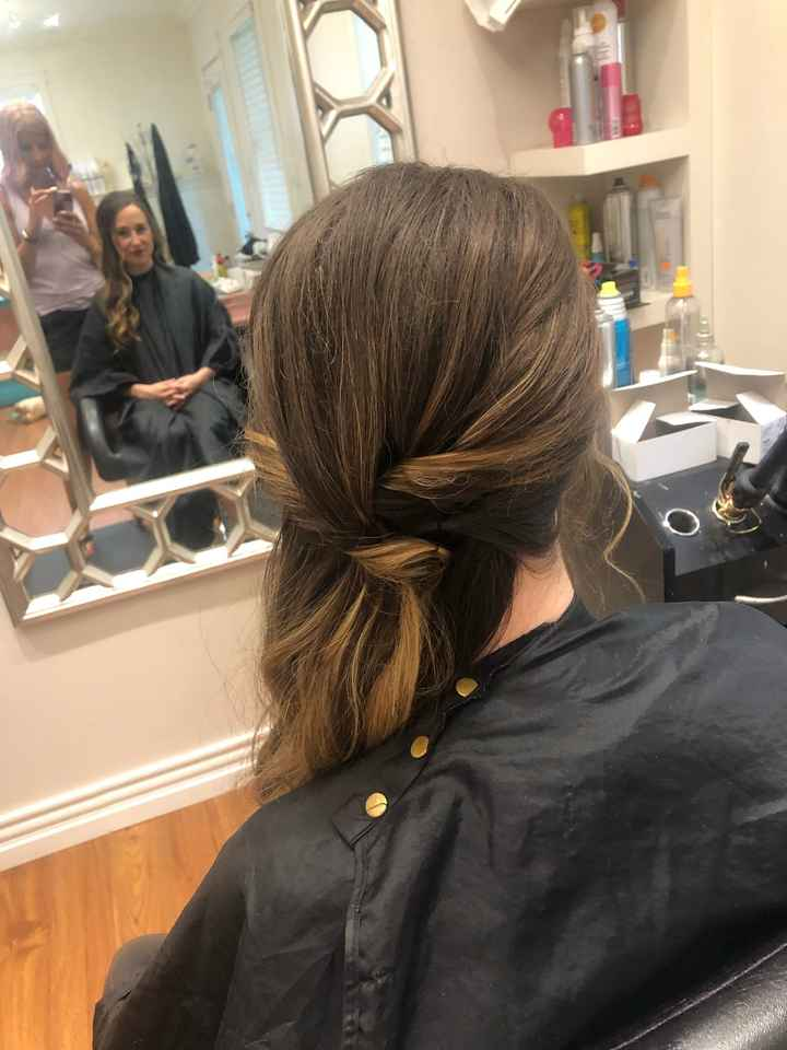 2 days before the wedding - Hair trial and make up complete! - 2