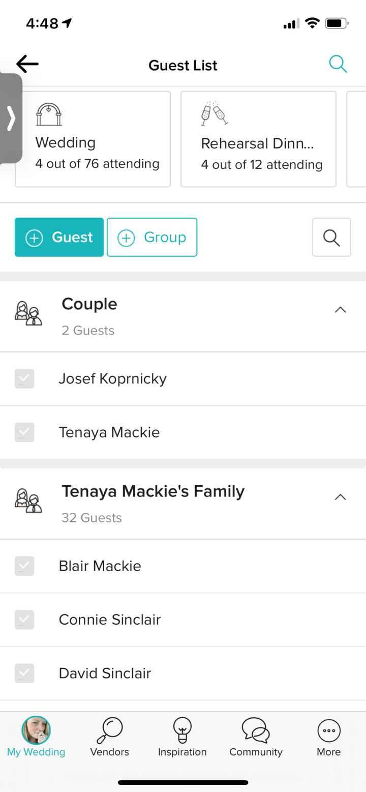 Guest list contact info access - 1