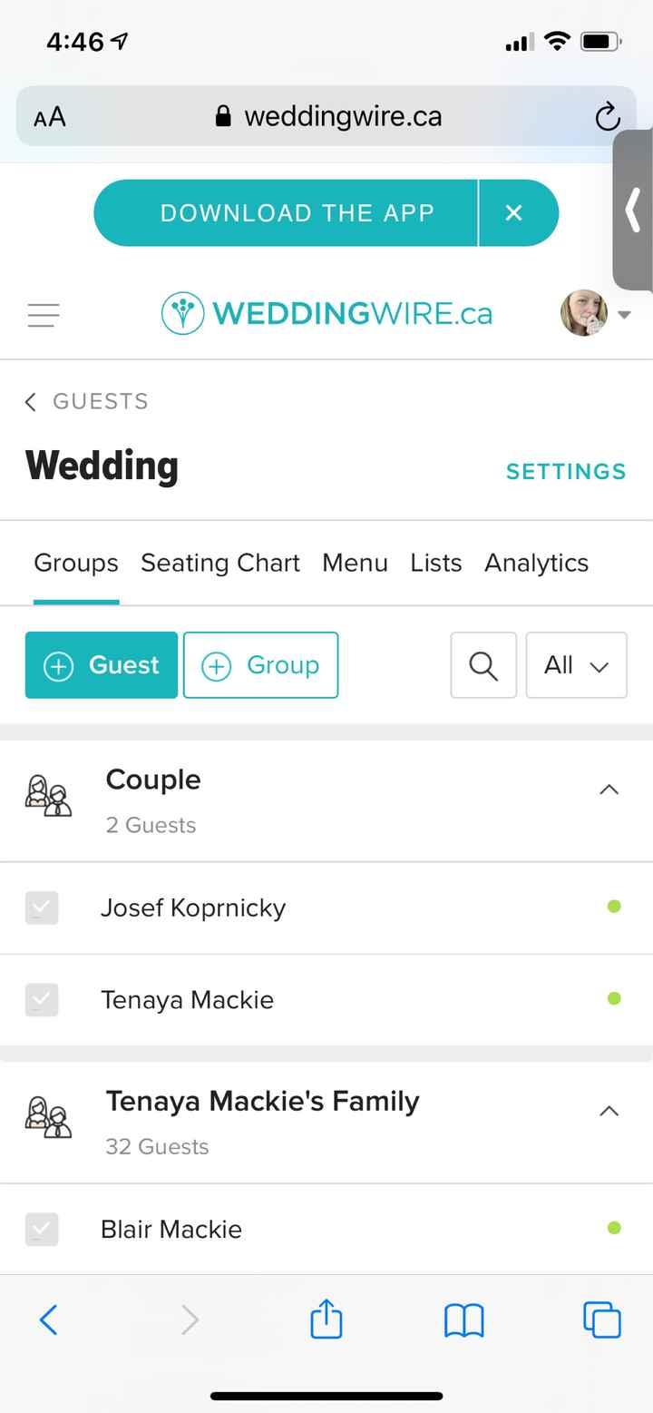 Guest list contact info access - 2